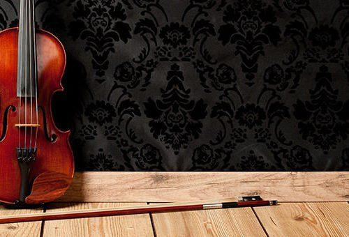 violin on the floor